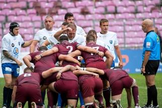 Le ruck servettien plus physique tout de même de celui de l'AS Culin Rugby. © Oreste Di Cristino / leMultimedia.info