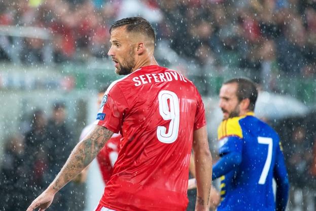 Haris Seferovic revit en équipe nationale depuis son transfert au Benfica Lisbonne cet été. © Oreste Di Cristino / leMultimedia.info