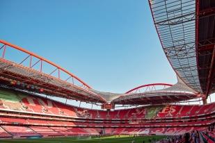 """L'Estádio da Luz sera comble mardi soir lors de la """"finalissima"""" entre le Portugal et la Suisse dans le groupe B des éliminatoires pour la Coupe du Monde 2018 en Russie. © leMultimedia.info / Oreste Di Cristino"""