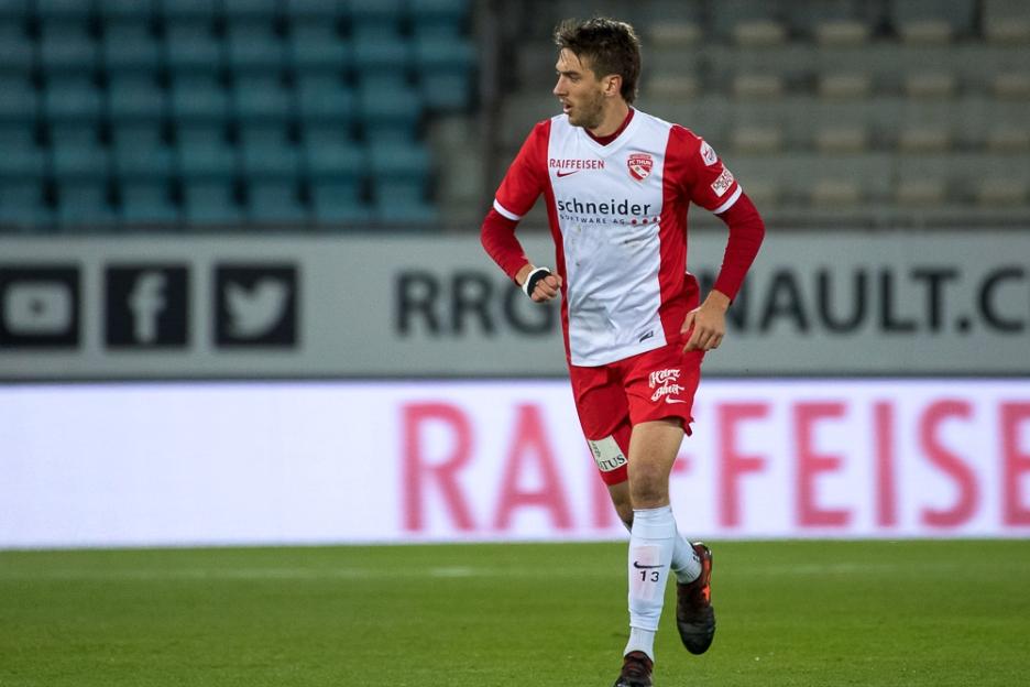 Simone Rapp a inscrit son premier triplé au cours de sa carrière face au FC Lausanne-Sport samedi soir à la Pontaise. © leMultimedia.info / Oreste Di Cristino