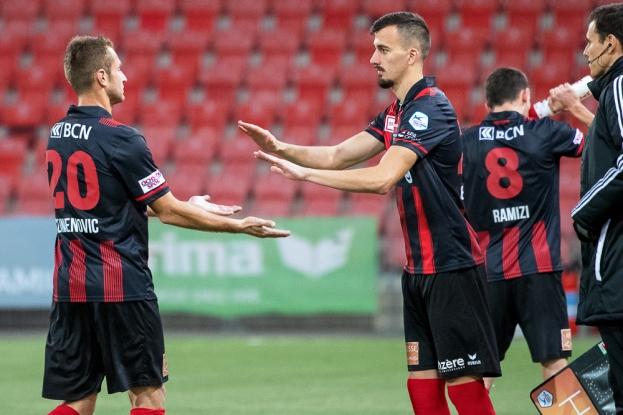 À la 74e minute, Arbenit Xhemajli effectue ses premières minutes avec Neuchâtel Xamax FCS en compétition officielle. © leMultimedia.info / Oreste Di Cristino