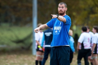 L'entraîneur des Wildcats de CERN. © leMultimedia.info / Oreste Di Cristino