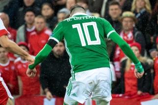 Kyle Lafferty, muet à Belfast, devra se montrer sous un meilleur visage à Bâle. © leMultimedia.info / Oreste Di Cristino
