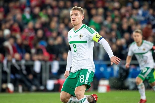 Le capitaine de l'Irlande du Nord, Steven Davis, n'est pas parvenu à renverser la tendance à Bâle. © leMultimedia.info / Oreste Di Cristino