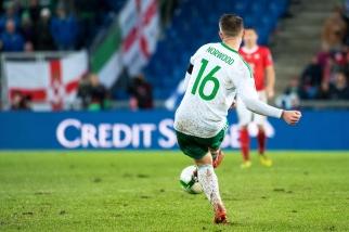 Oliver Norwood (16) de l'Irlande du Nord était à la quête de son premier but et de son premier mondial avec la Norn Iron. © leMultimedia.info / Oreste Di Cristino