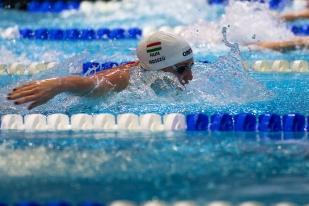 La Hongroise Katinka Hosszu a remporté l'ensemble de ses courses à Lausanne. © leMultimedia.info / Oreste Di Cristino