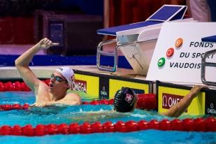 Record du meeting sur 400 mètres nage libre pour le Suisse Niels Liess. © leMultimedia.info / Oreste Di Cristino