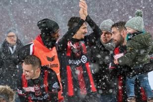 Les Rouges et Noirs sont champions d'hiver de Challenge League. La moitié de la route vers la Super League est parcourue. © leMultimedia.info / Oreste Di Cristino