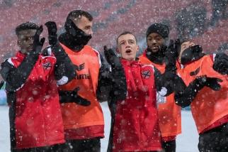 La joie des joueurs xamaxiens après la victoire 2-1 sur le FC Winterthur. © leMultimedia.info / Oreste Di Cristino