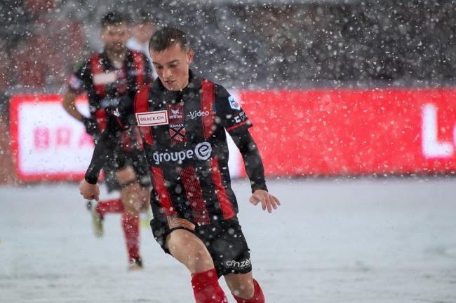 Liridon Mulaj a inscrit son premier but pour sa première titularisation de la saison avec Neuchâtel Xamax FCS. © leMultimedia.info / Oreste Di Cristino