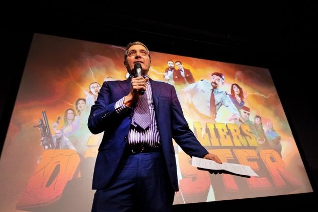 Le directeur de la RSI, Maurizio Canetta, introduit le film à la presse en conférence de presse vendredi 12 janvier. © leMultimedia.info / Oreste Di Cristino