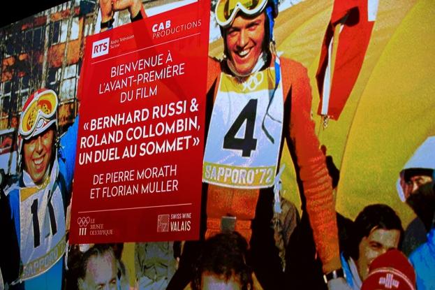 L'affiche du film documentaire « Bernhard Russi & Roland Collombin, un duel au sommet », réalisé par Pierre Morath et Florian Muller et coproduit par la RTS. © leMultimedia.info / Oreste Di Cristino