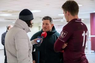 Gabriel Lignières, entraîneur principal du Servette Rugby Club: « Aujourd'hui, nous avons battu un concurrent important du championnat. » © leMultimedia.info / Oreste Di Cristino