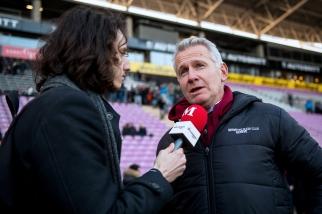 « Nous espérons garder notre avance à la tête du classement jusqu'à la fin »: Marc Bouchet, Président du Servette Rugby Club. © leMultimedia.info / Oreste Di Cristino
