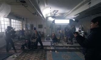 """Le tournage du clip """"PTTFLR"""" de Fabe Gryphin. © Michael Hartwell"""