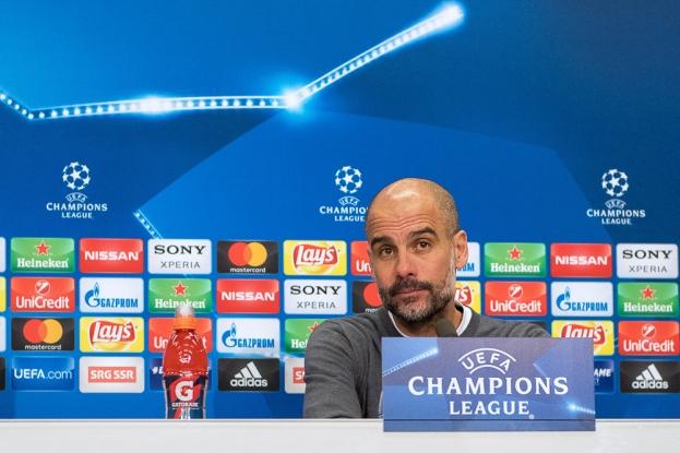 Josep Guardiola, entraîneur de Manchester City: « Le FC Bâle a prouvé pouvoir se défendre à ce stade de la compétition. » © leMultimedia.info / Oreste Di Cristino