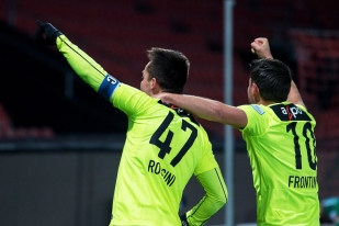 Patrick Rossini a inscrit son 8e but en 19 matches avec le FC Aarau. Il a été servi sur corner par Gianluca Frontino (10). © leMultimedia.info / Oreste Di Cristino