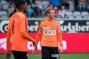 L'autre transfuge du FC Thoune au FC Lausanne-Sport, Joël Geissmann a aussi diputé les 90 minutes de la rencontre dans l'Oberland. © leMultimedia.info / Oreste Di Cristino