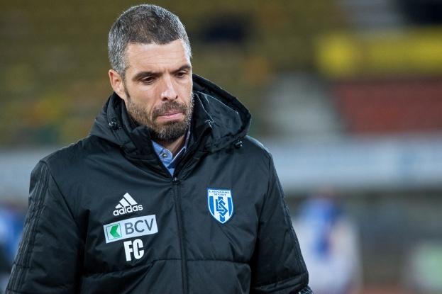 Fabio Celestini, l'air dépité, n'analysera pas la rencontre. « Il n'y a rien tirer de ce (non-)match. » © leMultimedia.info / Oreste Di Cristino