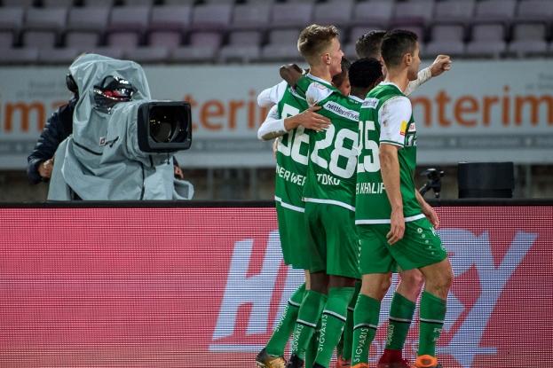 Le FC Saint-Gall agrippe la troisième place du classement de la Super League, à deux unités du FC Bâle (2e), qui compte toutefois deux matches en retard. © leMultimedia.info / Oreste Di Cristino