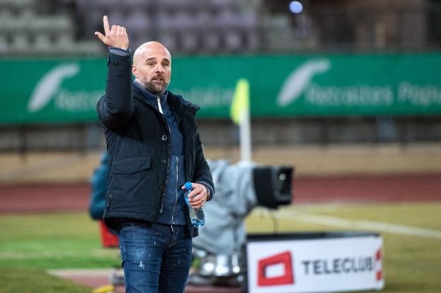 Giorgio Contini a été bref lors de la conférence de presse d'après-match à la Pontaise. « Nous avons parfaitement assuré notre victoire ce soir. » © leMultimedia.info / Oreste Di Cristino