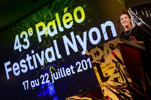 Le 43e Paléo Festival aura bien lieu du 17 au 22 juillet 2018. La cheffe de presse Michelle Müller a présenté un savoureux avant-goût ce mardi matin à Nyon. © leMultimedia.info / Oreste Di Cristino