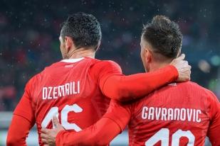 Deux autres buteurs: Blerim Dzemaili (22e) et Mario Gavranovic (49e) ont renforcé leur place au sein de la nationale helvétique. © leMultimedia.info / Oreste Di Cristino