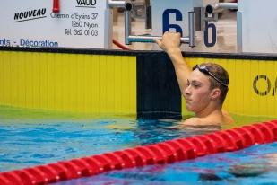Chez les messieurs, c'est le nouveau patron de la nage libre suisse, Antonio Djakovic qui s'est emparé de la victoire finale sur 100m. © leMultimedia.info / Oreste Di Cristino