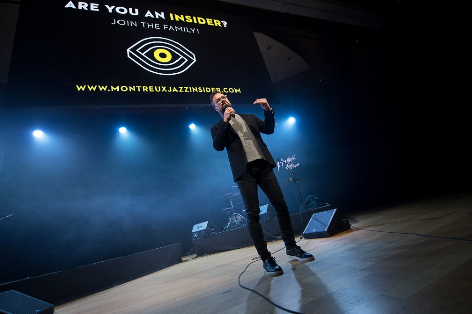 L'application Insiders – qui proposait déjà du contenu sur Tamino ces dernières semaines – est toujours l'outil phare du festivalier du Montreux Jazz Festival. © leMultimedia.info / Oreste Di Cristino
