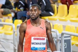 Kyron McMaster a terminé troisième lors de la course. Jeune, l'Antillais est porteur de grands espoirs pour son pays, les îles Vierges Britanniques. © leMultimedia.info / Oreste Di Cristino