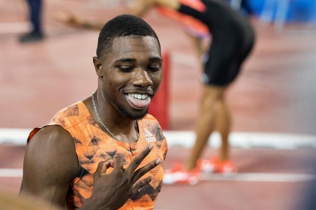 Noah Lyles a, une nouvelle fois, dominé les 200 mètres. À Doha, il a même battu le record du meeting (19,83 secondes). © leMultimedia.info / Oreste Di Cristino
