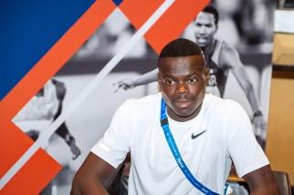 """Abdalelah Haroun n'a que 21 ans mais a déjà décroché une médaille de bronze aux mondiaux de Londres. Le Qatarien remettra ça sur les 400 mètres """"flat"""" de Doha. © leMultimedia.info / Oreste Di Cristino"""