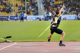 Le second lancer de Thomas Röhler ira se planter derrière les 90 mètres (91,78). Un résultat extraordinaire. © leMultimedia.info / Oreste Di Cristino