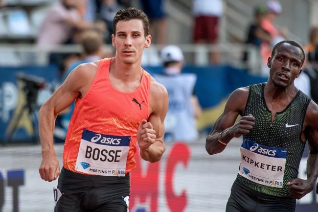 Pierre-Ambroise Bosse a couru les 400 mètres en 51 secondes. Dans le sillage de ses concurrents. Il s'est en revanche effondér dans les 100 derniers mètres. © leMultimedia.info / Oreste Di Cristino