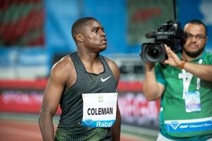 Le champion du monde indoor des 60 mètres grandit à la faveur de la concurrence. La concurrence était par ailleurs presque exclusivement américaine au Maroc. © leMultimedia.info / Oreste Di Cristino [Rabat]