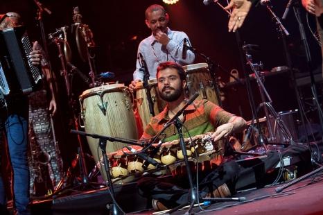 """Le xylophoniste Alexandre Garnizé a été le maître musical du titre """"Balafon"""", neuvième titre de l'album """"Refavela"""", écrit à Lagos au Nigéria en 1976. © leMultimedia.info / Oreste Di Cristino"""