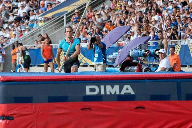 Renaud Lavillenie livre une concurrence rude à ses partenaires de circuit. © leMultimedia.info / Oreste Di Cristino