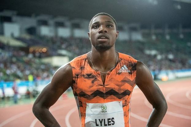 Noah Lyles suit les traces des plus grands sprinteurs que le monde de l'athlétisme n'ait jamais connu. Il est désormais plus rapide que Usain Bolt à ses 20 ans en 2007 sur les 100 et 200 mètres. Un avenir parmi les plus prometteurs du circuit actuel. © leMultimedia.info / Oreste Di Cristino [Rabat]