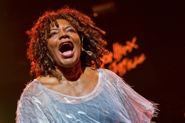 Margareth Menezes est la fondatrice du mouvement Afropop Brasileiro. Sa venue à l'Auditorium Stravinski le 7 juillet, lors de la Brazil Night, n'était pas sa première apparition au Montreux Jazz Festival. © leMultimedia.info / Oreste Di Cristino
