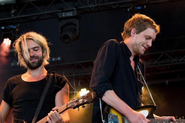 « Nous sommes quatre dans le groupe donc il y a beaucoup de sons de divers instruments dans l'album. Du coup, on a dû être créatif pour l'adapter en live. » © leMultimedia.info / Oreste Di Cristino [Nyon]