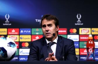 Le nouvel entraîneur du Real Madrid, Julen Lopetegui a manqué ses débuts sur le banc madrilène. © Joosep Martinson - UEFA/Getty Images