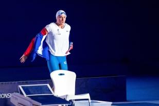 """La Française n'aura pas remporté l'or mais n'a pas échappé au podium. En bronze avec un temps convenable (53""""35), elle a emporté déjà sa quatrième médaille des Championnats. © leMultimedia.info / Oreste Di Cristino [Glasgow]"""