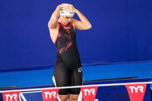 """Katinka Hosszú a dominé sa demi-finale en 2'10""""49, le deuxième temps des qualifiées. © leMultimedia.info / Oreste Di Cristino [Glasgow]"""