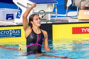 "Simona Quadarella s'est imposée en 4'03""35. © leMultimedia.info / Oreste Di Cristino [Glasgow]"