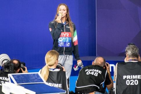 La Romaine peut croquer à pleine dents sa réussite lors de ces Championnats d'Europe nouvelle version à Glasgow. © leMultimedia.info / Oreste Di Cristino [Glasgow]