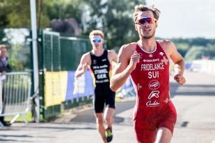 Sylvain Fridelance s'est également dit frustré de sa course à pied, souffrant de crampes après les 40km de vélo. © leMultimedia.info / Oreste Di Cristino [Strathclyde]