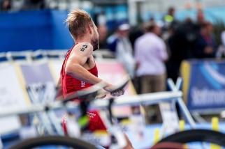 Salvisberg a réalisé un parcours en vélo très solide. © leMultimedia.info / Oreste Di Cristino [Strathclyde]