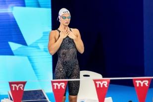"""Maria Ugolkova, a explosé son record de Suisse de plus de six dixièmes pour le tabler à un temps de 2'10""""83. La nageuse née à Moscou, a d'ailleurs remporté une médaille que la Suisse n'avait pas forcément vu venir. © leMultimedia.info / Oreste Di Cristino [Glasgow]"""