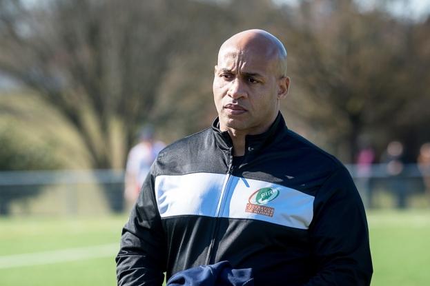 Edgar Babou (48 ans) a remplacé André Adopo à la tête de la sélection ivoirienne en mars 2018. © leMultimedia.info / Oreste Di Cristino [Vessy]