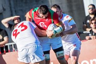 Le troisième ligne portugais a produit un rugby de qualité sur le terrain, auteur même d'un essai au terme d'une cavalcade solitaire de 50 mètres (32e). © leMultimedia.info / Oreste Di Cristino [Nyon]